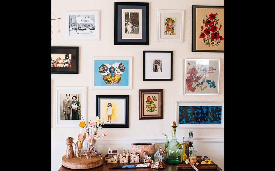 mais quadros sala decorada