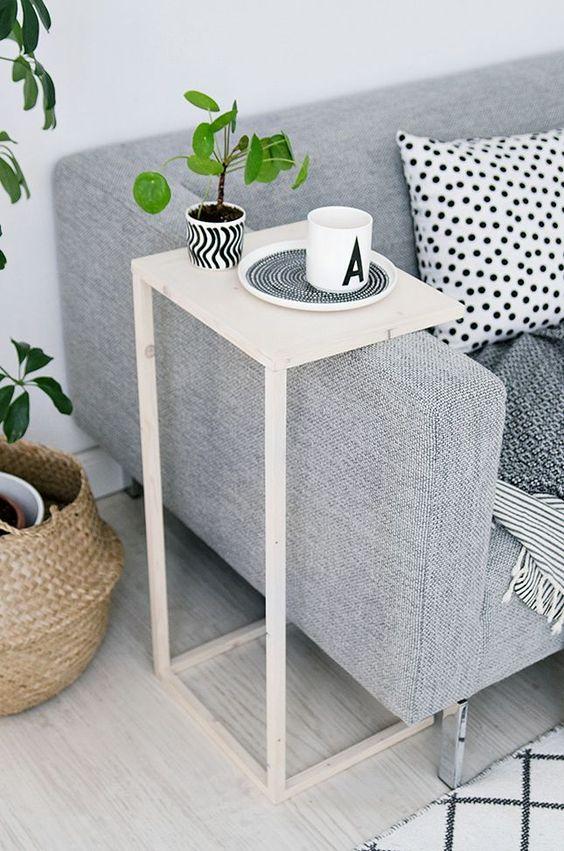 sala sofá pequena decorada