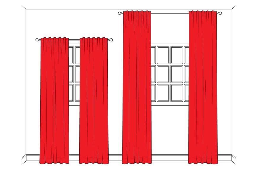 sala pequena decorada cortina
